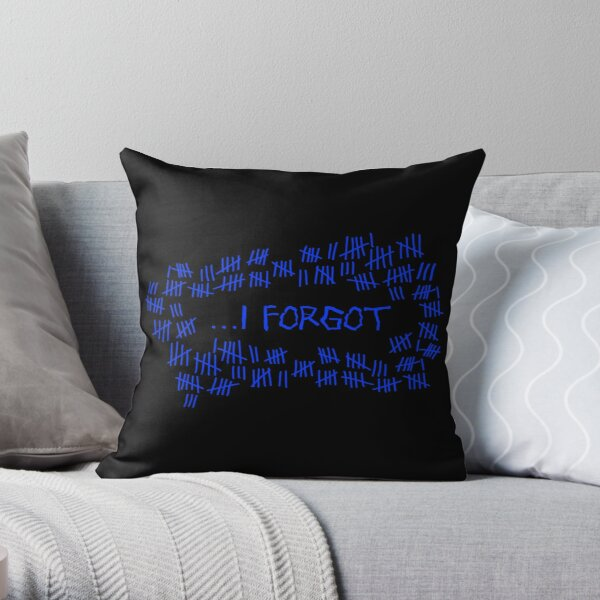 I Forgot #8 Throw Pillow
