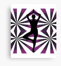 Yoga Girl Silhouette Abstract Canvas Print