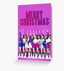 TWICE CHRISTMAS Greeting Card