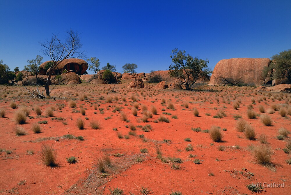 The Granites - Currawinya National Park - Queensland by Jeff Catford