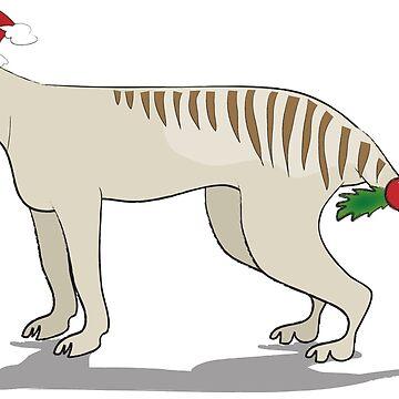 Thylacine Christmas by Khanagirl