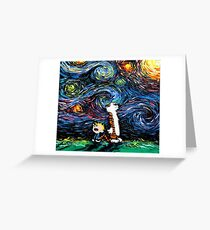 stary night tiger Greeting Card