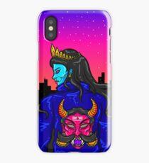 Kali in a Rakshasa Biker jacket iPhone Case