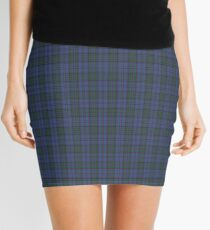 00103 Bermuda Blue District Tartan  Mini Skirt