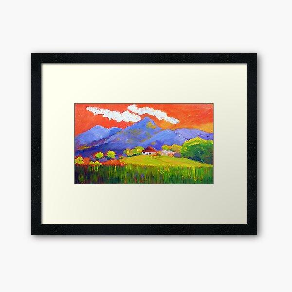 Murwillumbah Cane Farm.  Framed Art Print