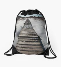 White Memorial Conservation Boardwalk Drawstring Bag