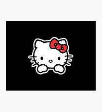 Hello Kitty White Photographic Print