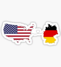 USA - Deutschland | Long Distance Liebe Sticker