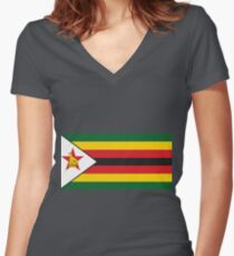 Zimbabwe Shirt mit V-Ausschnitt
