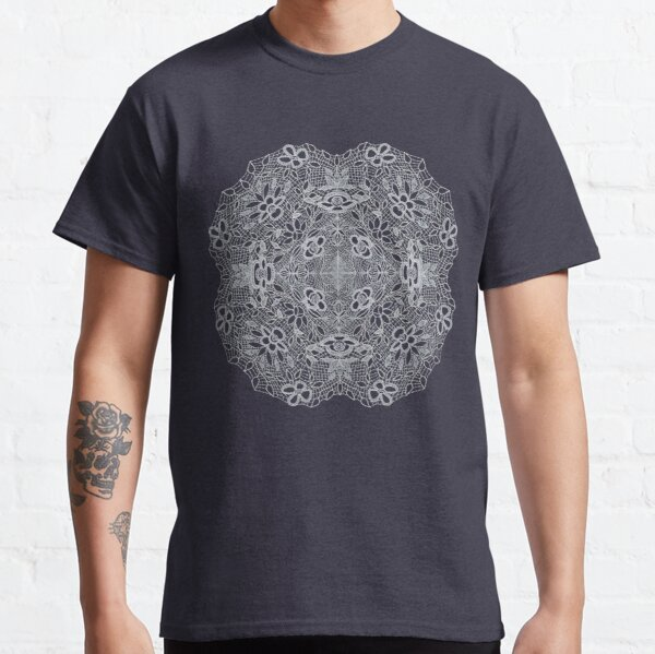 Digital Crocheted Lace Mandala  Classic T-Shirt