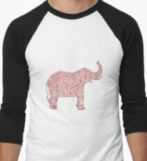 Elephant Design with Pink Glitter T-Shirt
