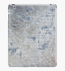 Texture of blue old vintage denim fabric iPad Case/Skin