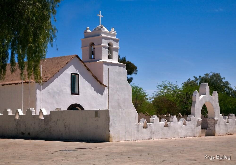 Church, San Pedro de Atacama, Chile by Krys Bailey