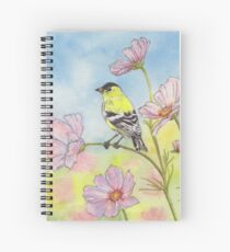 Goldfinch and Flowers Spiral Notebook