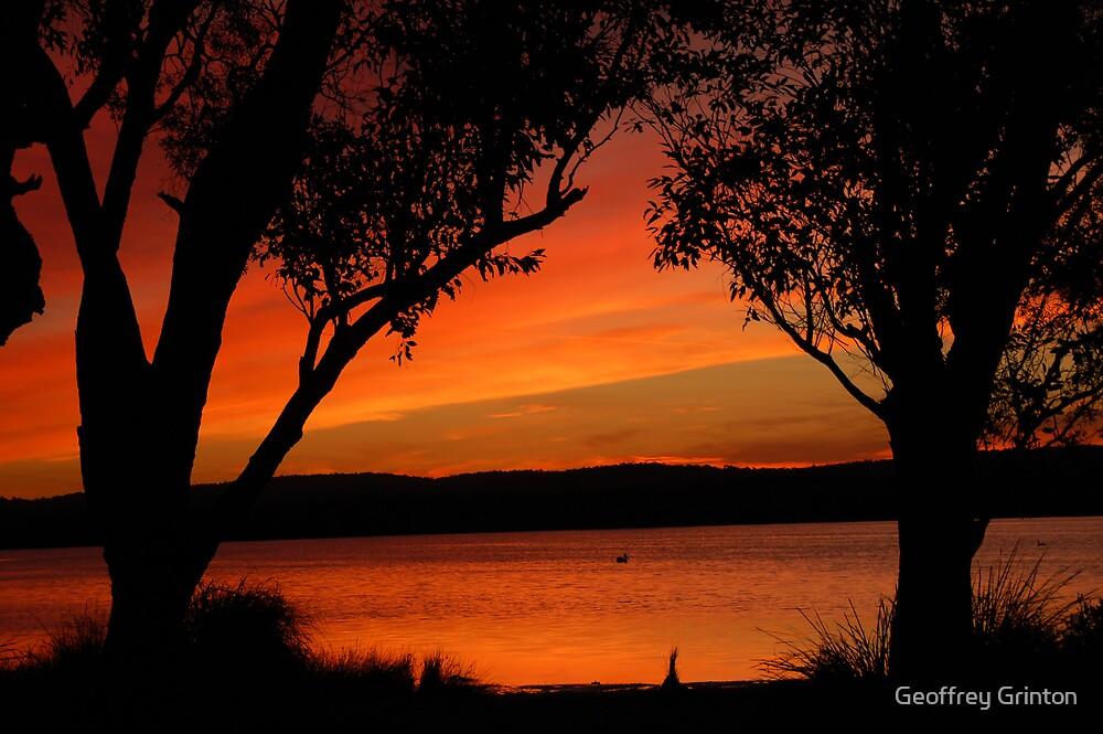 Sunset at Tea Gardens, NSW by Geoffrey Grinton
