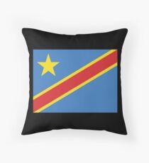 Democratic Republic of the Congo Throw Pillow
