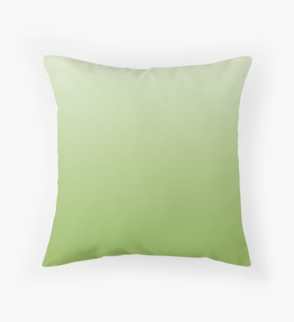 Natural Greenery green ombre Throw Pillow