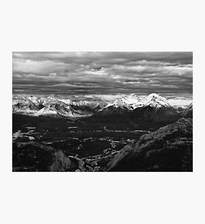 Snow Capped Peaks Photographic Print