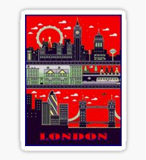 LONDON : Travel and Tourism Advertising Print Sticker