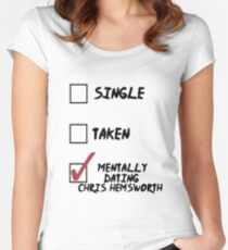 Dating Hemsworth Women's Fitted Scoop T-Shirt