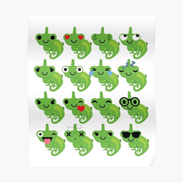 Chameleon Emoji   Poster