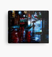 Night City Rain - 3 Metal Print