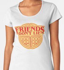 Friends Don't Lie Waffle Women's Premium T-Shirt