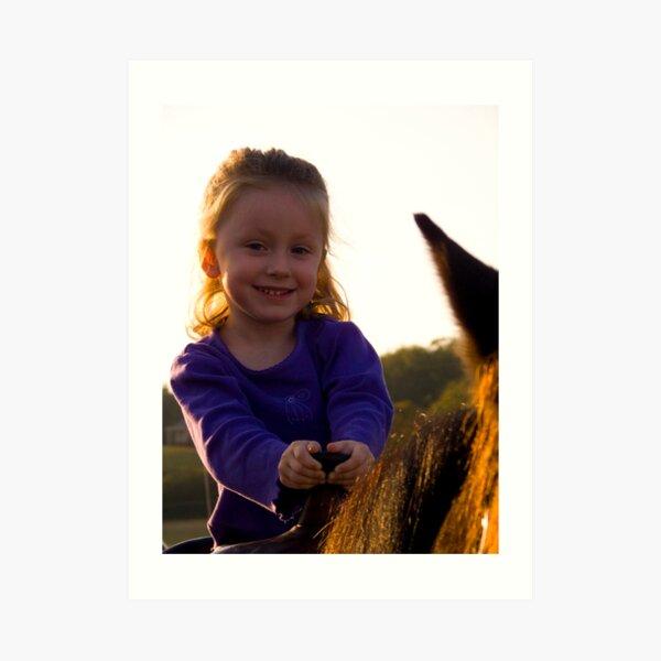 First Horse Ride Art Print