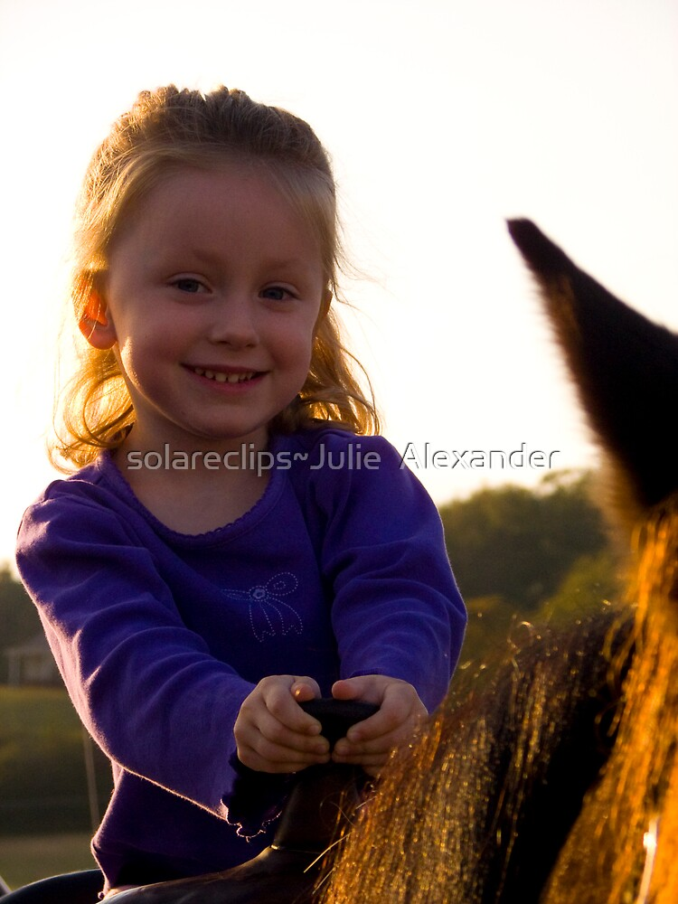 First Horse Ride by solareclips~Julie  Alexander