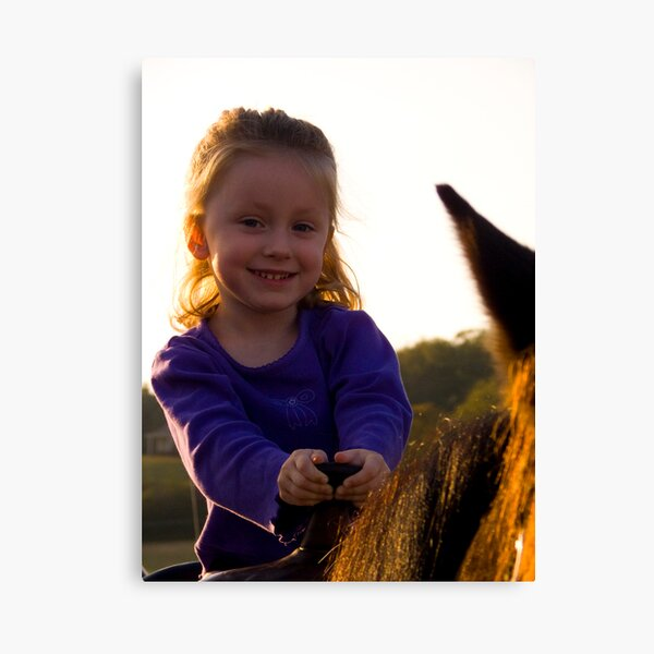 First Horse Ride Canvas Print