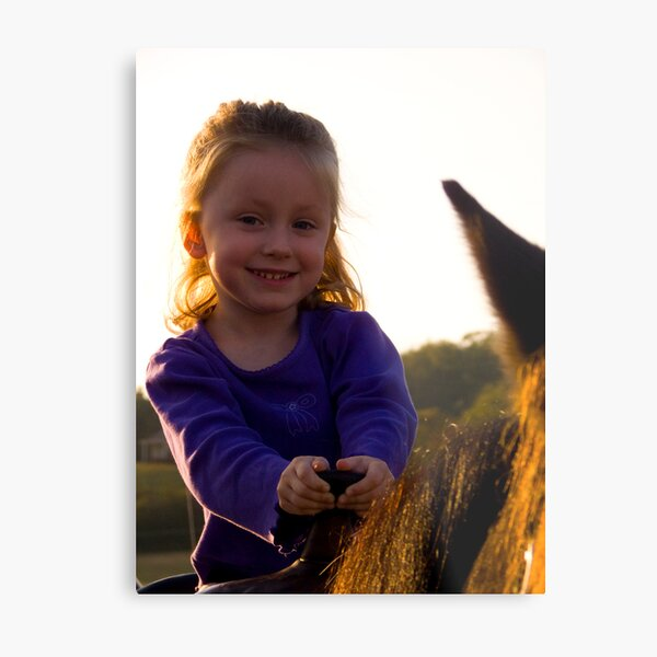 First Horse Ride Metal Print