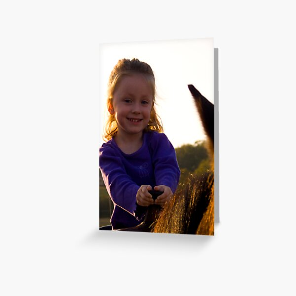 First Horse Ride Greeting Card
