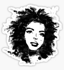 Lauryn Hill (monochrome) Sticker