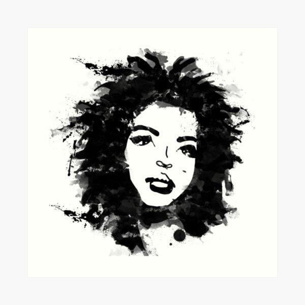 Lauryn Hill (monochrome) Art Print