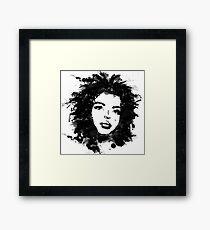 Lauryn Hill (monochrome) Framed Print