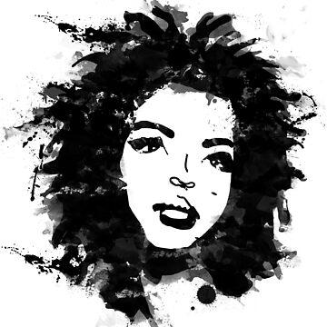 Lauryn Hill (monochrome) by andreanagosto