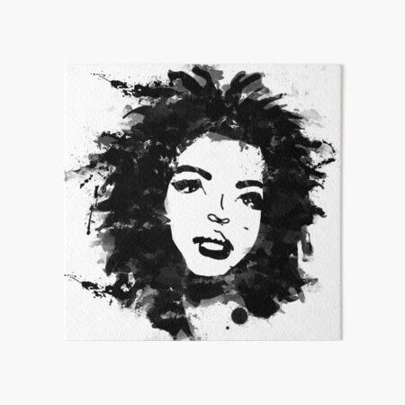 Lauryn Hill (monochrome) Art Board Print