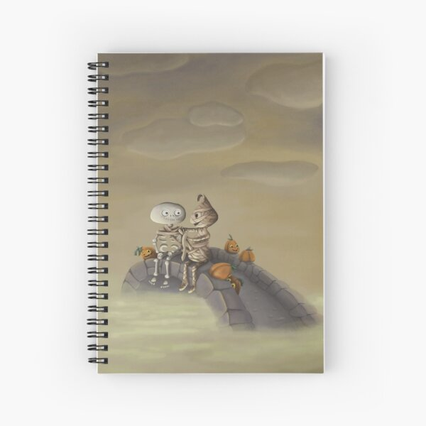 The Cold Halloween Night Spiral Notebook