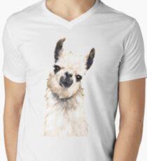 Camiseta para hombre de cuello en v Llama