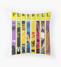 Custom Broadway Playbill Framed Art Collage Throw Pillow