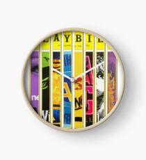 Custom Broadway Playbill Framed Art Collage Clock