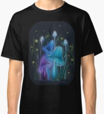 Fireflies and Psychadelic Mushrooms Glowing in the Dark Classic T-Shirt