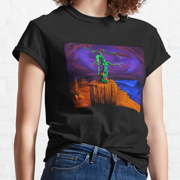 Trippy Psychedelic Surreal Art - The Pedestal by Vincent Monaco Classic T-Shirt