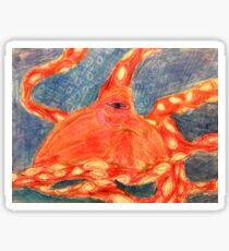 Red Octupus Sticker