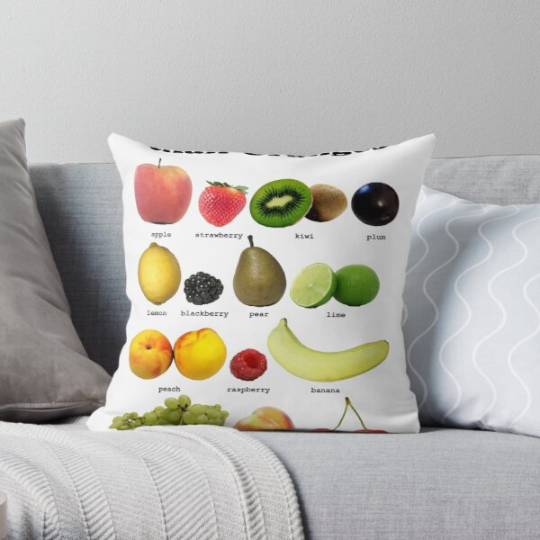 Fruits Other Than Oranges Wall-chart Throw Pillow