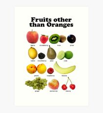 Fruits Other Than Oranges Wall-chart Art Print