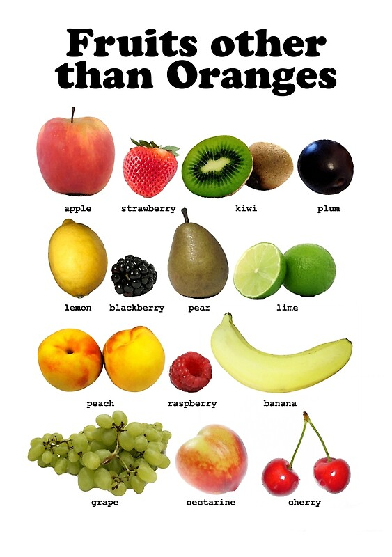 Quot Fruits Other Than Oranges Wall Chart Quot Posters By Brian