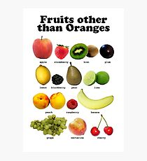 Fruits Other Than Oranges Wall-chart Photographic Print