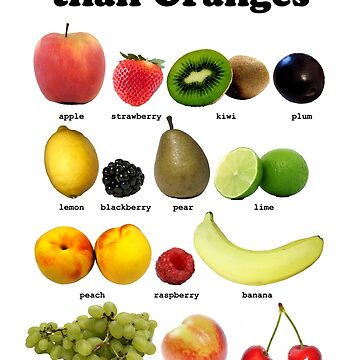 Fruits Other Than Oranges Wall-chart by brianftang