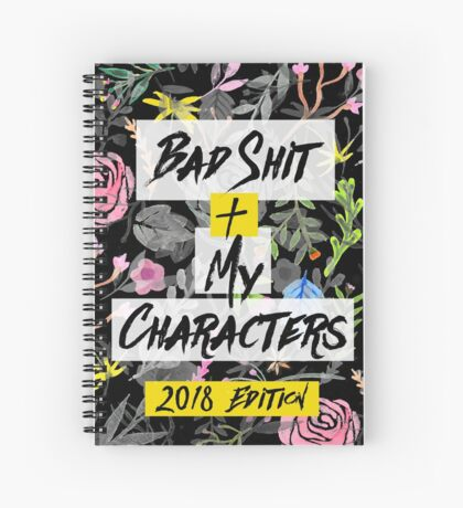 Bad Shit + My Characters (Colorful Alternate Version) Spiral Notebook